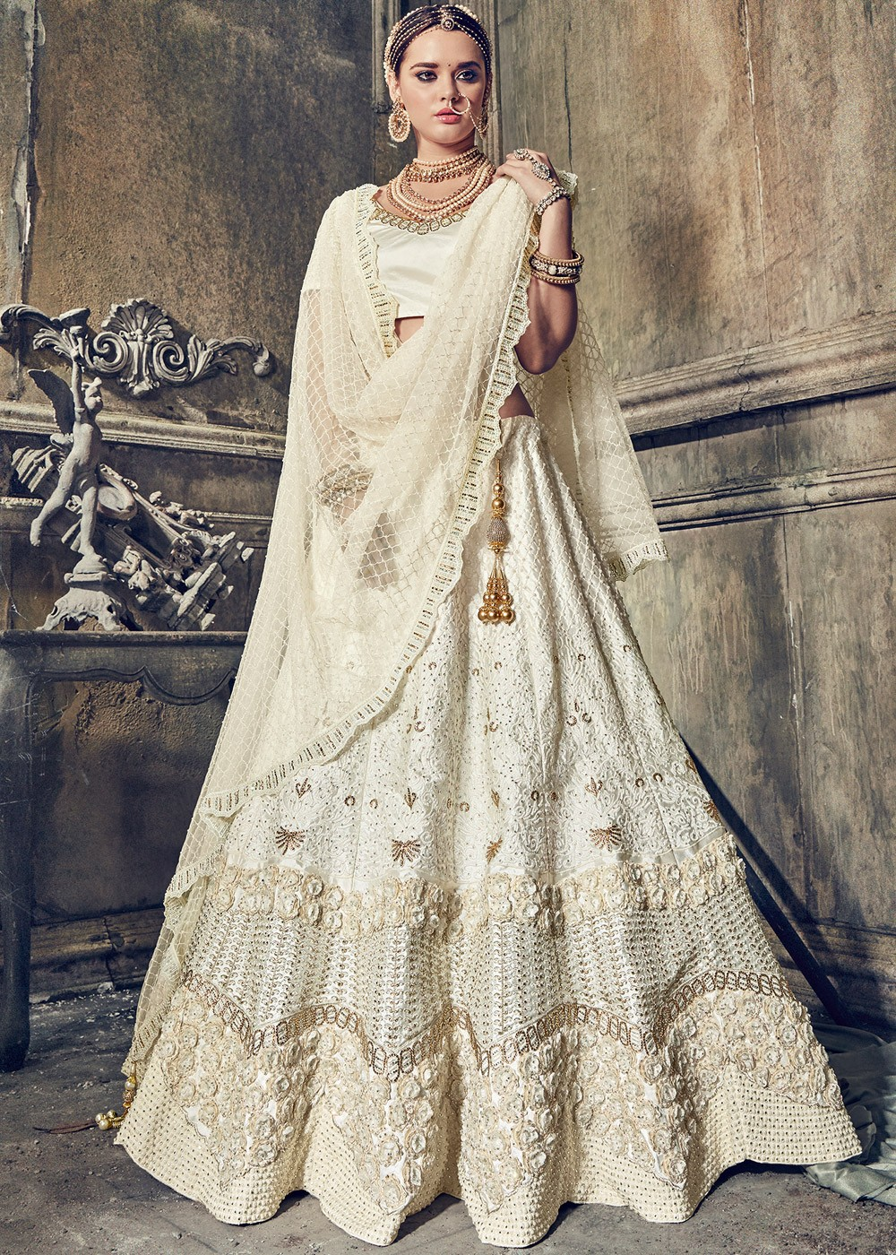Bridal Lehenga Buy Indian Bridal Lehenga Choli Online USA UK - White Indian Wedding Dress