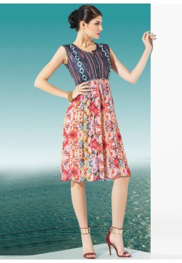 Buy Multicolor Georgette Readymade Indian Tunic Dresses Online in USA