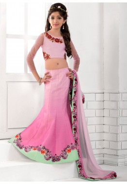 Digital Printed Art Silk Lehenga Choli with Dupatta
