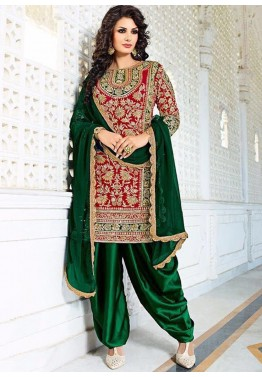 Red Bridal Patiyala Salwar Kameez