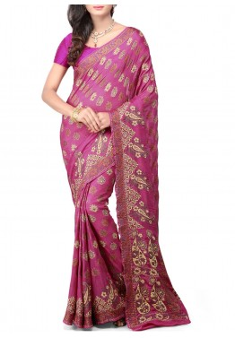 Magenta Saree in Pure Banarasi Silk