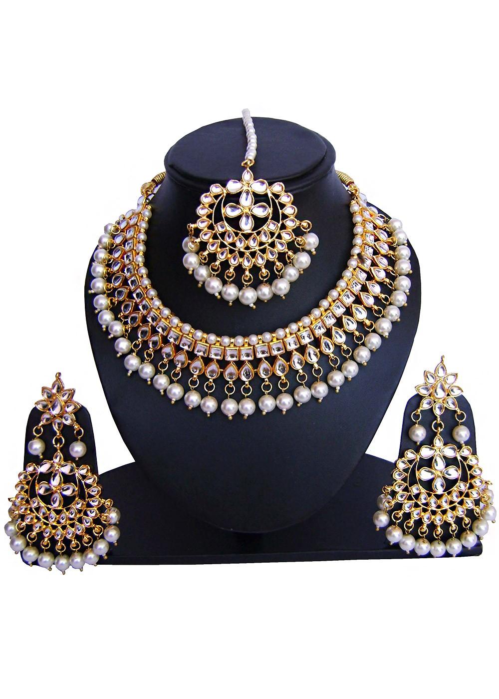 Golden Perle Necklace Set