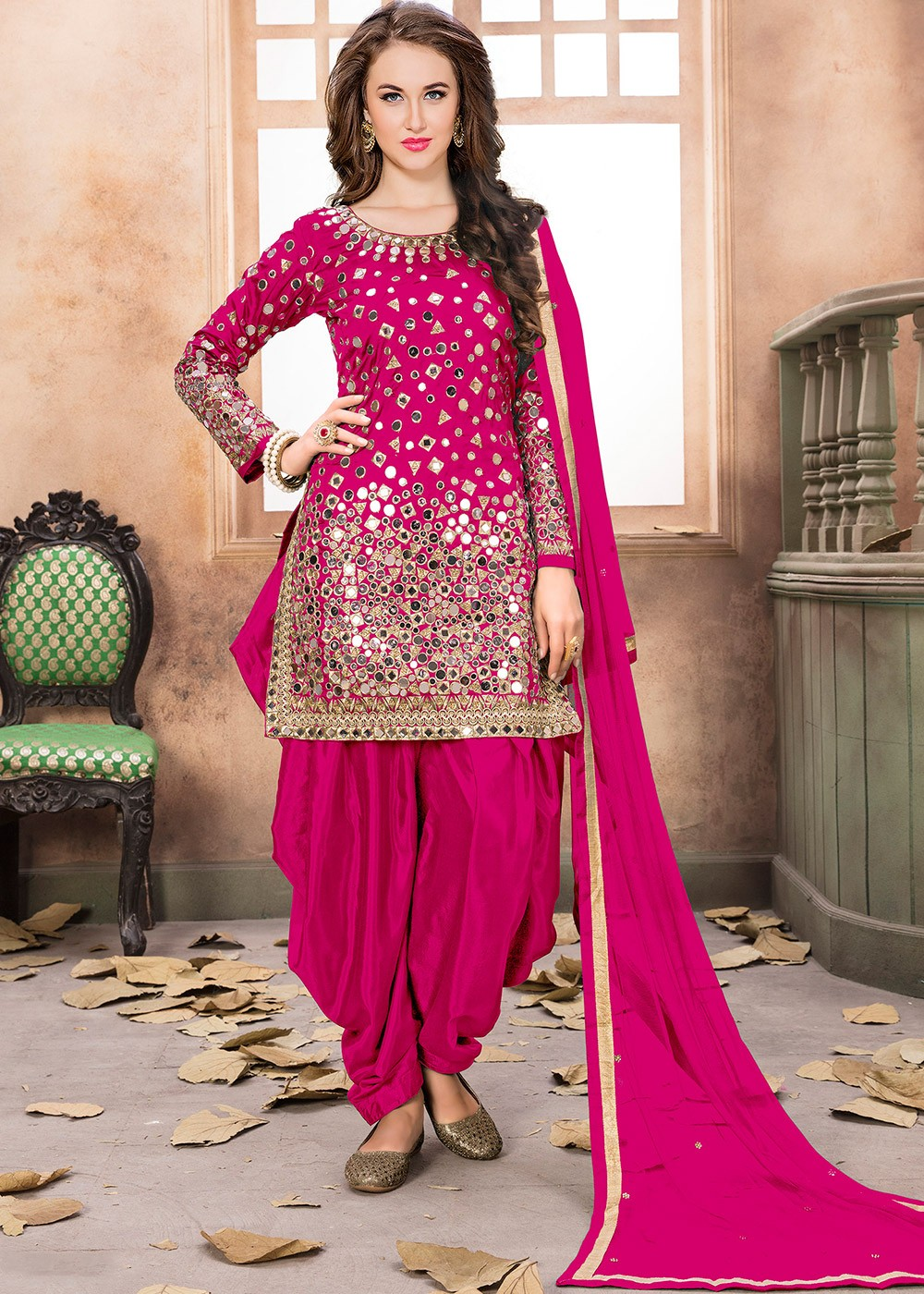 Pink Art Silk Punjabi Salwar Suit With Dupatta Most Loved Styles 1931sl02