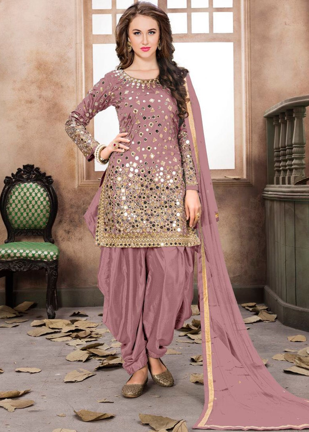 e745522b69 Pastel Pink Punjabi Salwar Suit With Dupatta Most Loved Styles 1986SL03