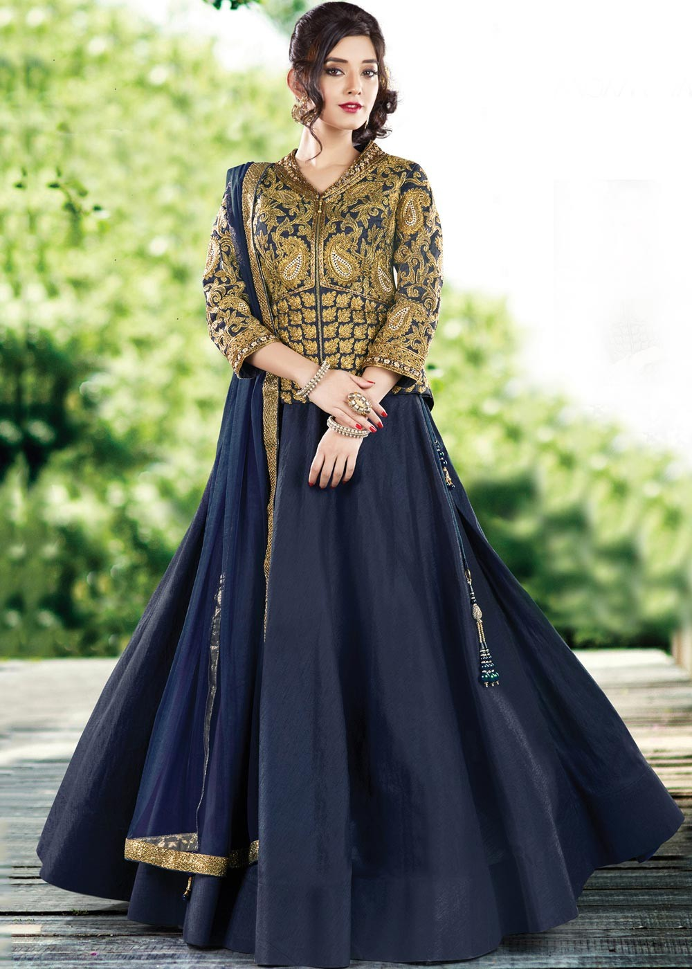 118925053fad0 Buy Blue Art Silk Indian Wedding Lehenga Choli Online with Crop Top    Dupatta ...