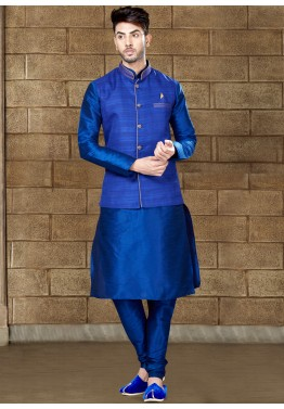 8d9061b009 Buy Readymade Blue Mens Kurta Pajama Online with Nehru Jacket for Men