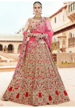 9ff8cae577f5 Cream Embroidered Indian Bridal Lehenga Choli Online Shopping USA