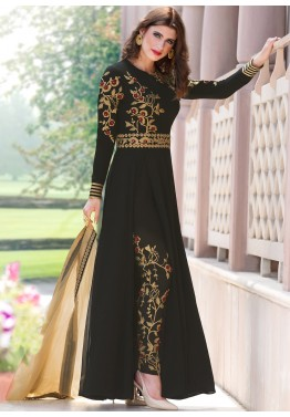 0395785be10 Indian Designer Dresses  Buy Black Georgette Pant Salwar Kameez Online