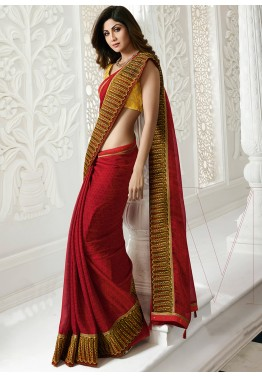 4045cd3a639 Red Sarees - Shop Latest Collection Of Red Indian Sarees Worldwide