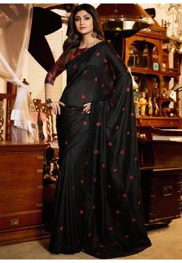 de65cab66d9bea Black Saree - Designer Indian Black Sarees Collection Online USA, UK