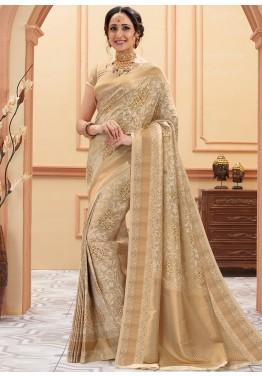 Readymade Banarasi Georgette Antique Zari Weaving Bridal Pure Special Occasion Exclusive Saree Designer Chiffon Sari Women Blouse Wedding