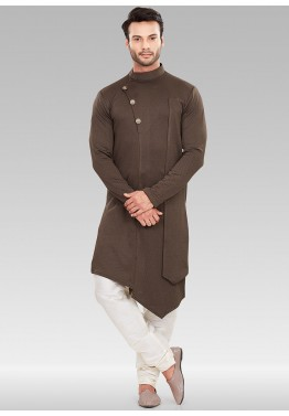 57d61025b Brown Asymmetric Readymade Mens Kurta Pajama Online Shopping in New York