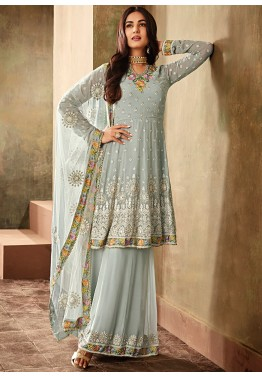 a1201e87bad3b Indian Dresses for Women: Buy Powder Blue Pakistani Salwar Kameez Online USA