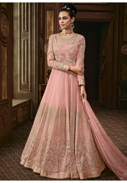 aa9d266908 Buy Pink Richly Embroidered Kurti Style Designer Lehenga Choli online in USA