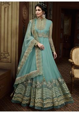 fc9b34ff0f Light Blue Embroidered Pakistani Salwar Kameez Online Shopping