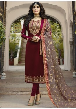 Heavy Embroidered Bollywood Ethnic Georgette Suit Indian Designer Salwar Kameez