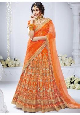 8cc354dfb3 Shop Orange Designer Bridal Lehenga Choli Online with Dupatta in USA